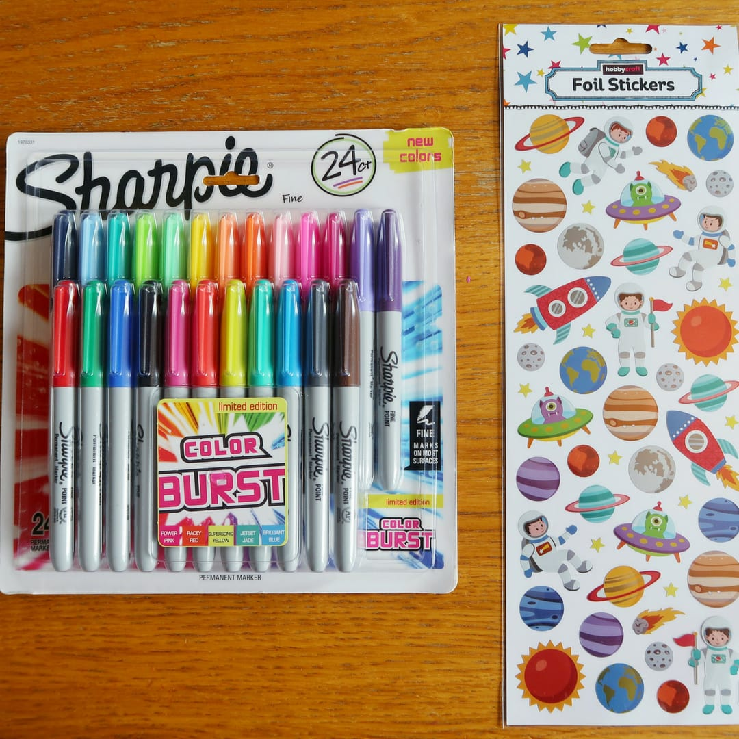 Sharpies and Stickers from Hobbycraft