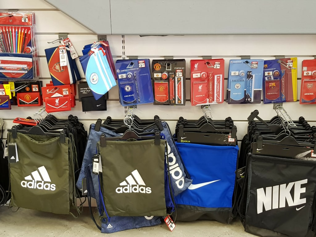 Sports Direct display of PE bags