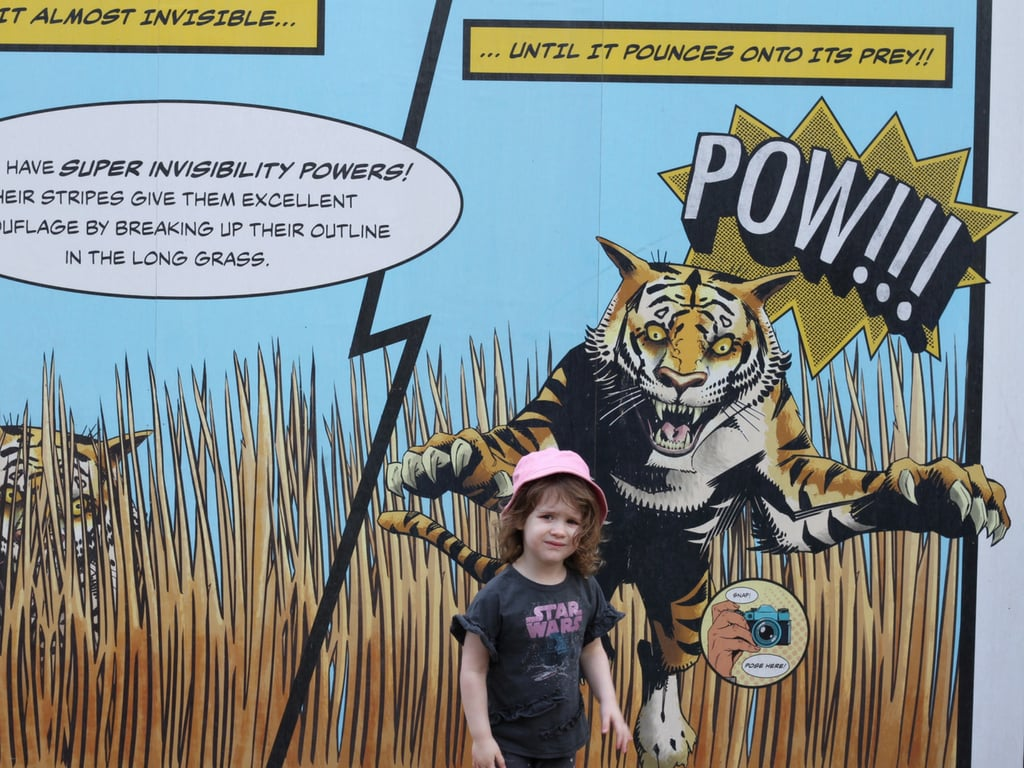 Littlest by a tiger cartoon