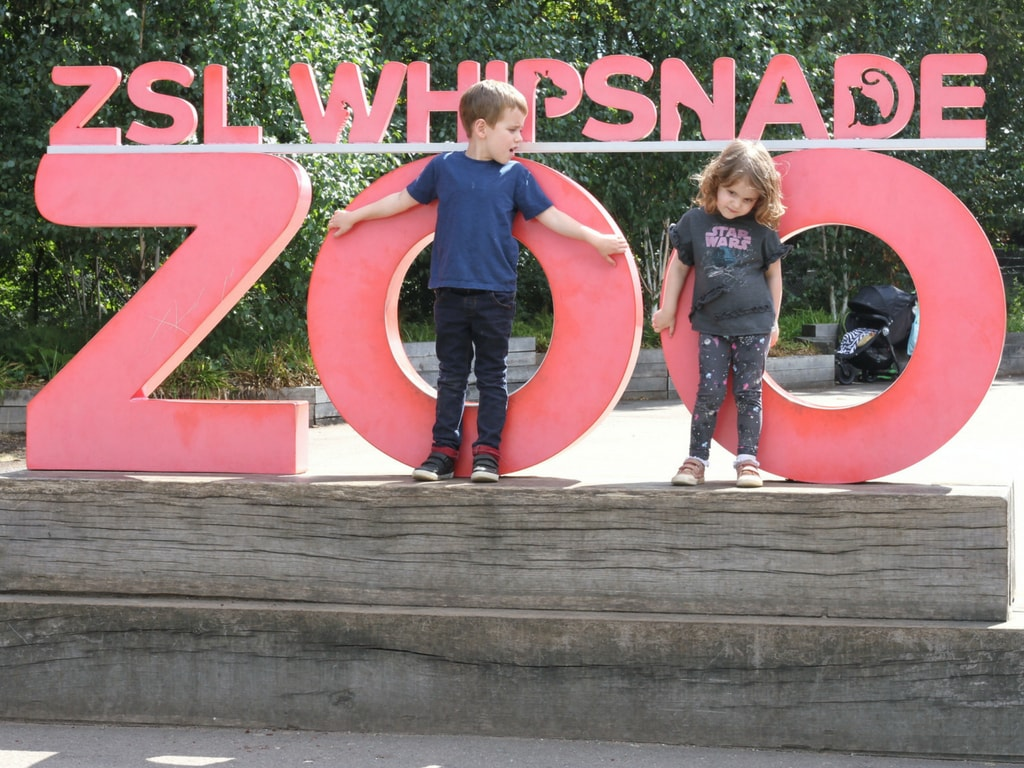 Whispnade zoo sign with Biggest and Littlest