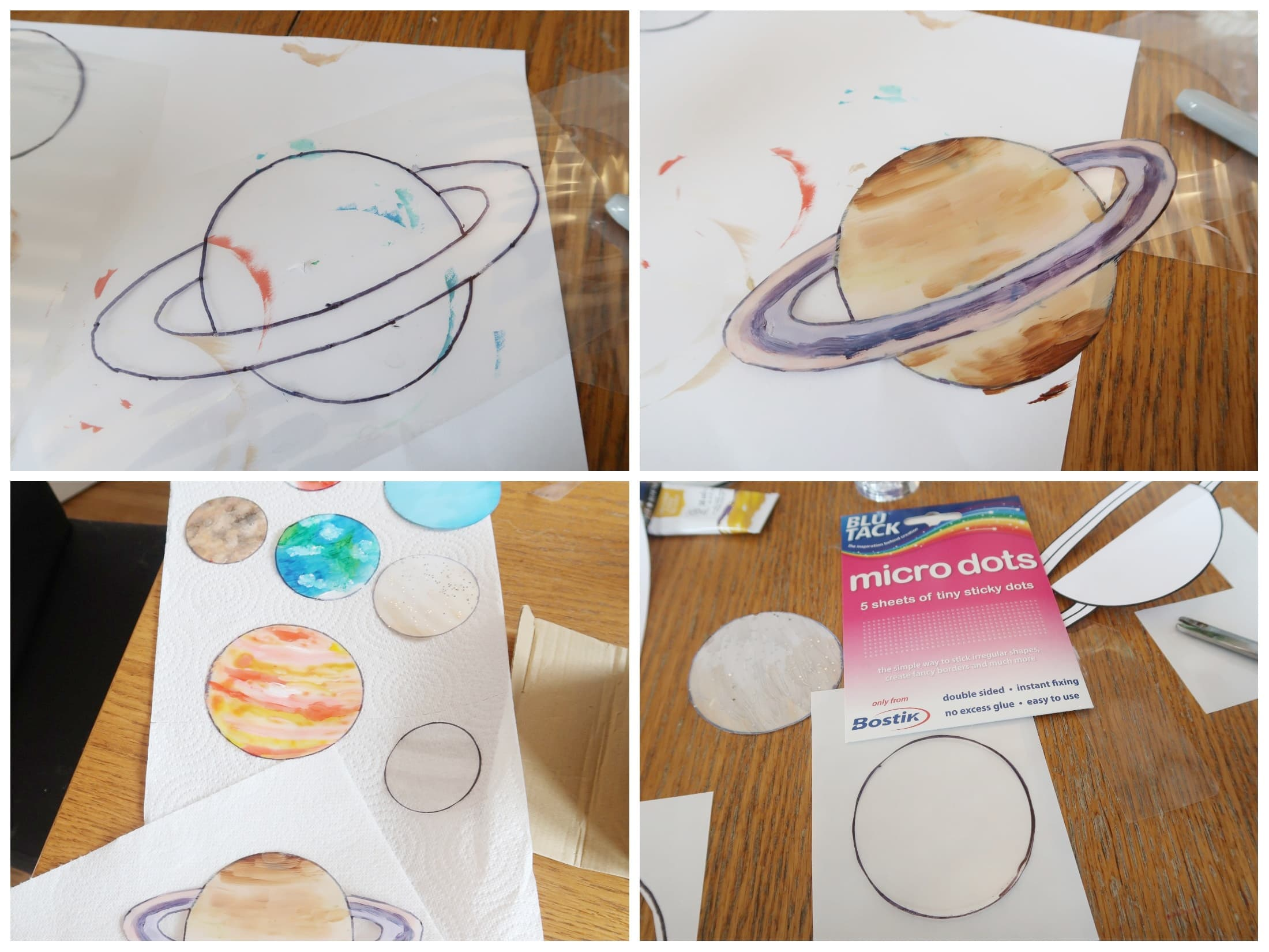 Saturn and other painted solar system sun-catchers