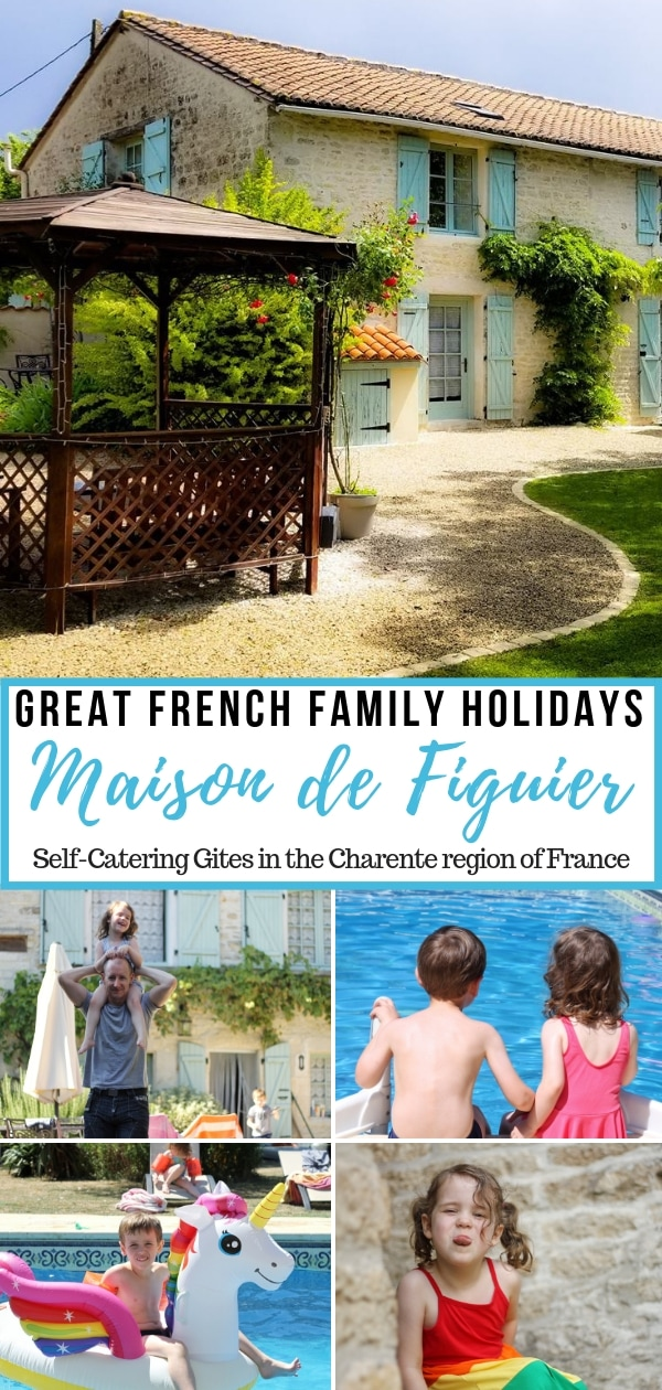 Great French Family Holidays at Maison de Figuier - self-catering gites in the Charente region of France.