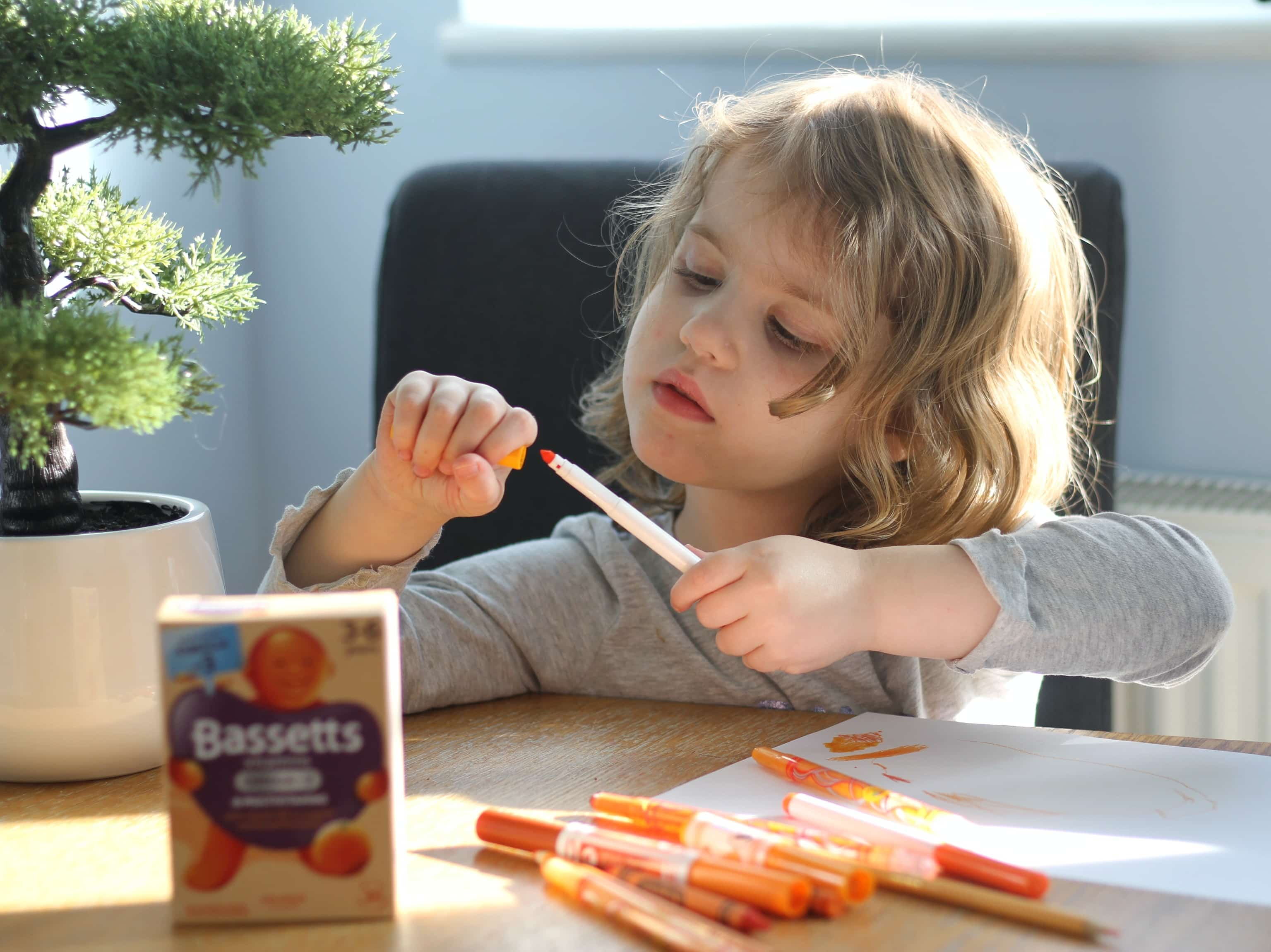 Littlest drawing what Bassetts Omega-3 Orange taste like