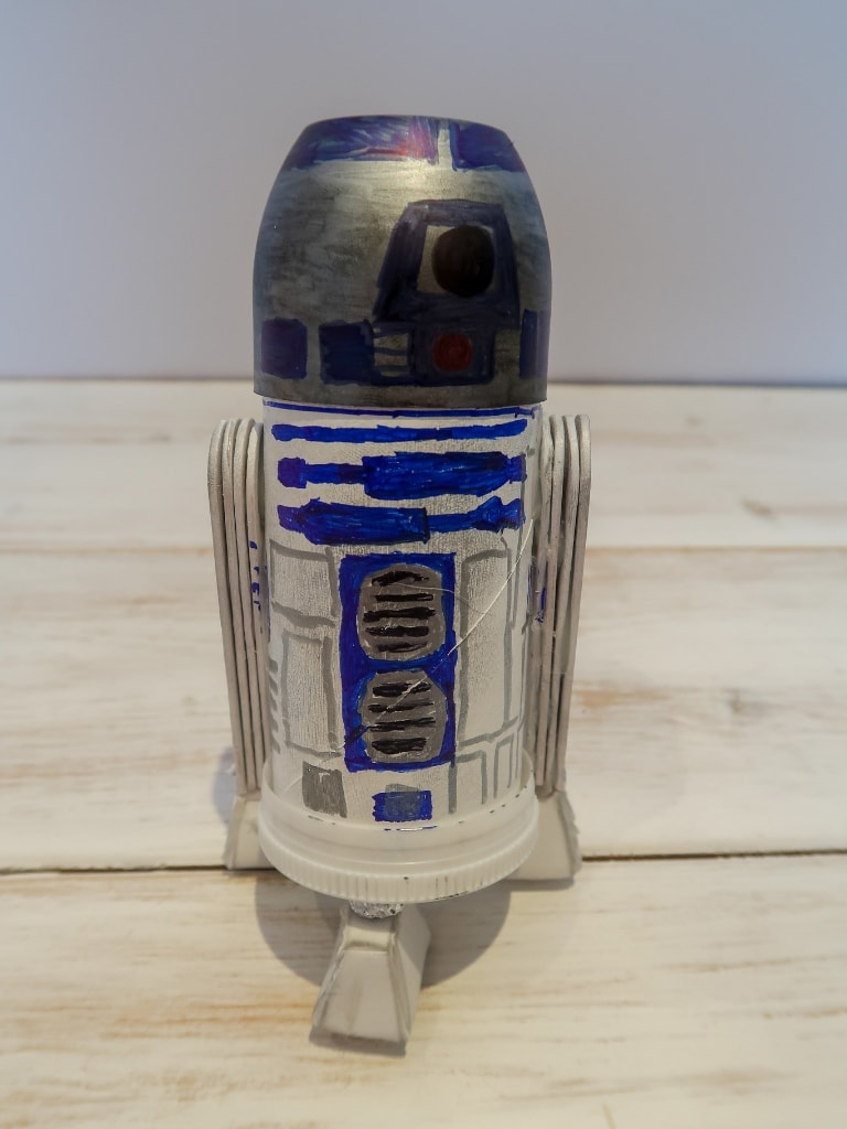Finished R2D2 moneybox craft