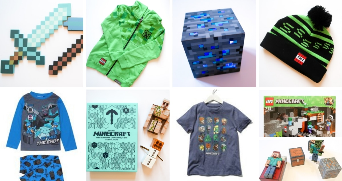 Minecraft Gifts list collage