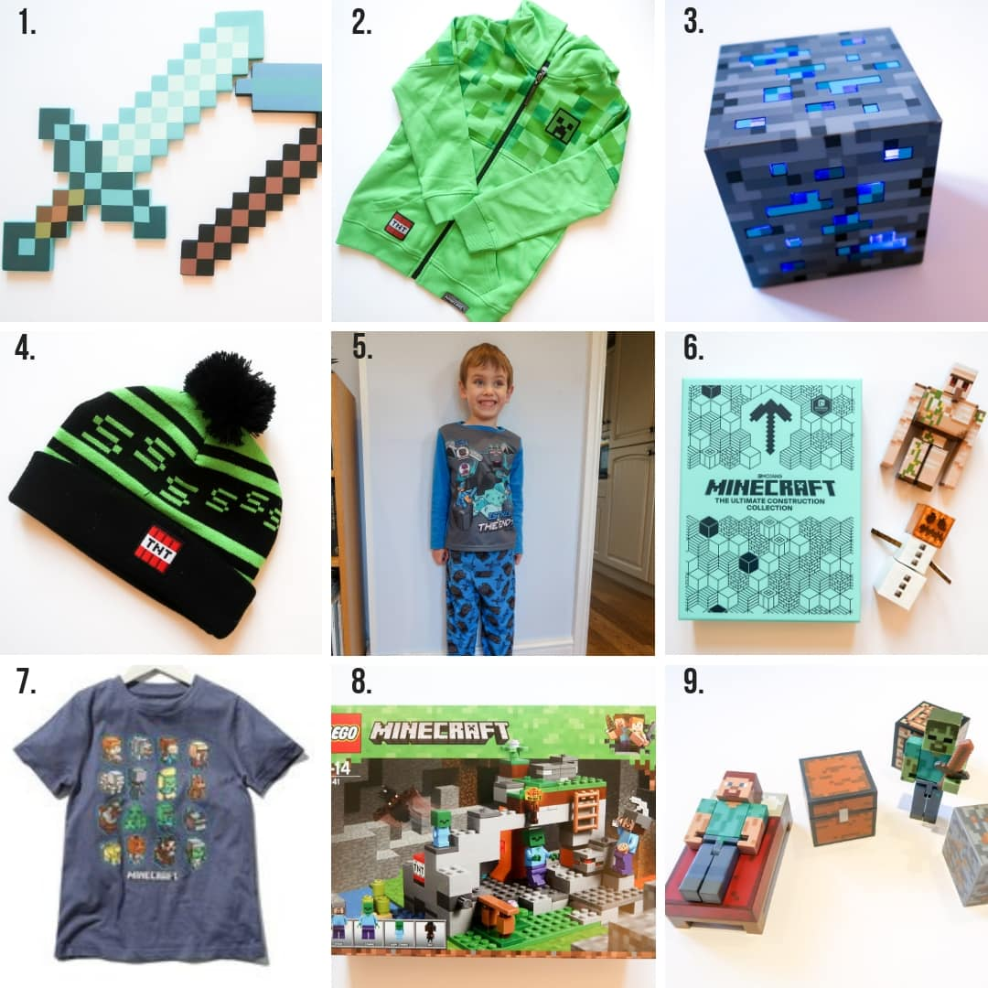 Minecraft gifts for kids grid (