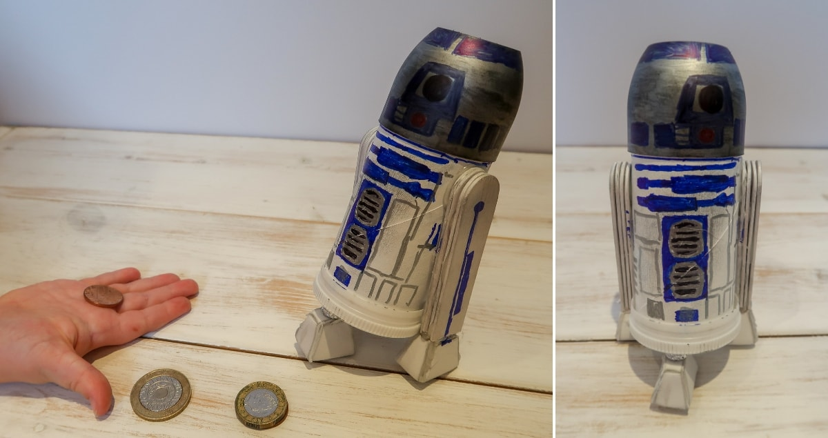 R2D2 Moneybox craft feature