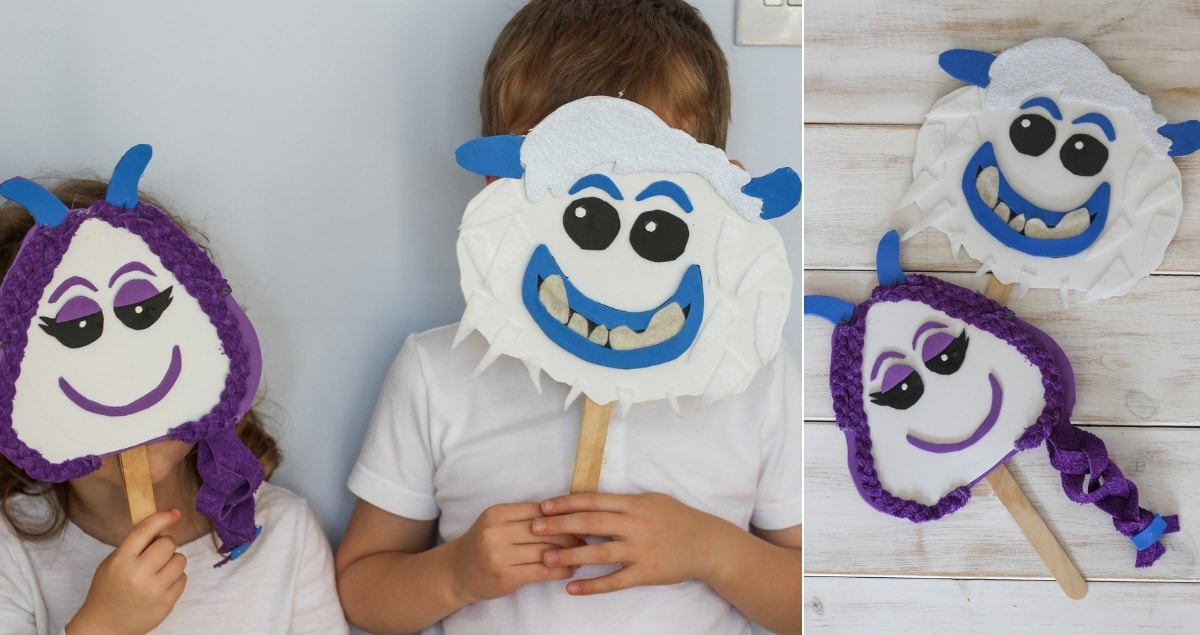 Smallfoot Mask Craft Tutorial – with free templates #ad