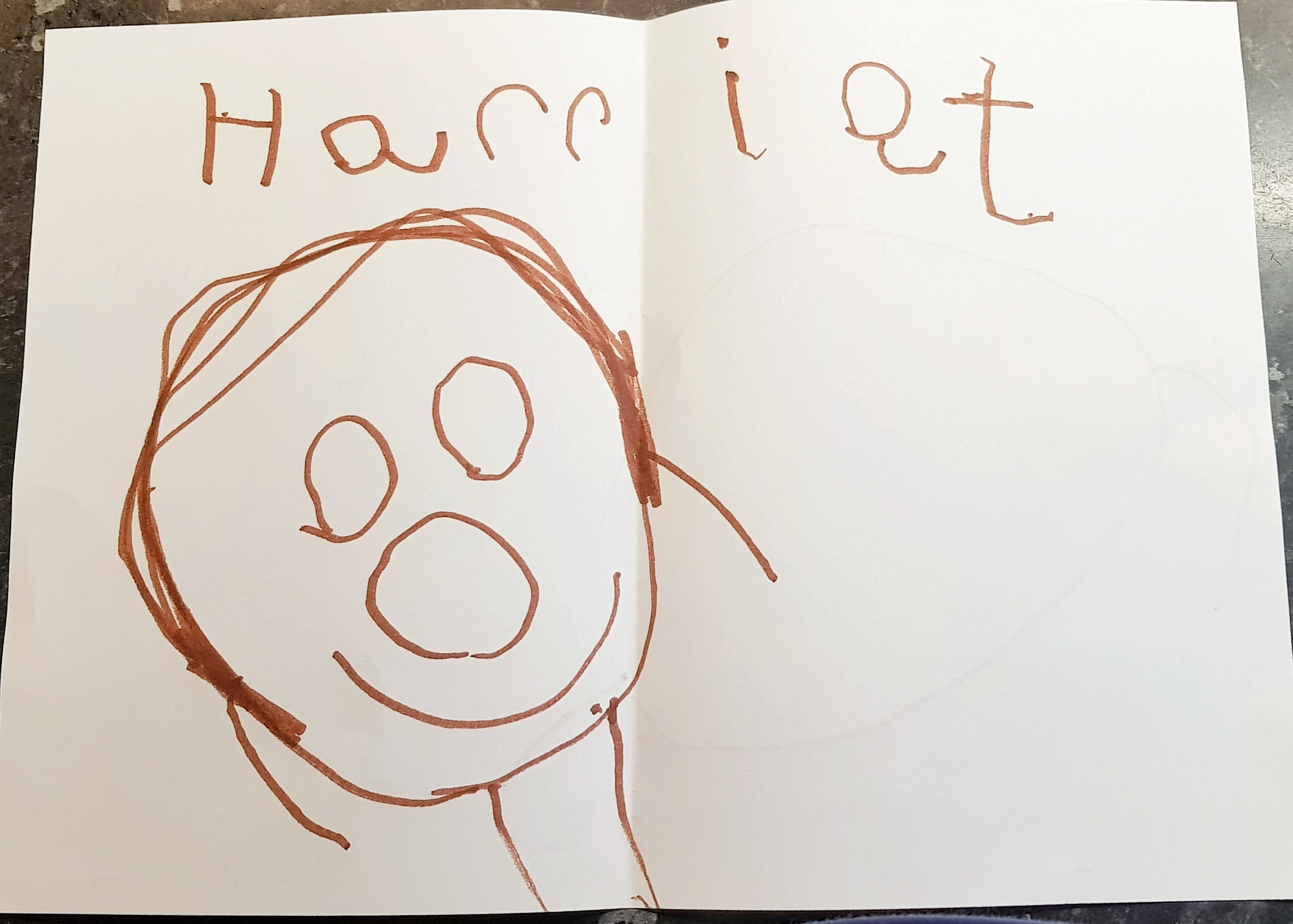 Littlest writes ger name