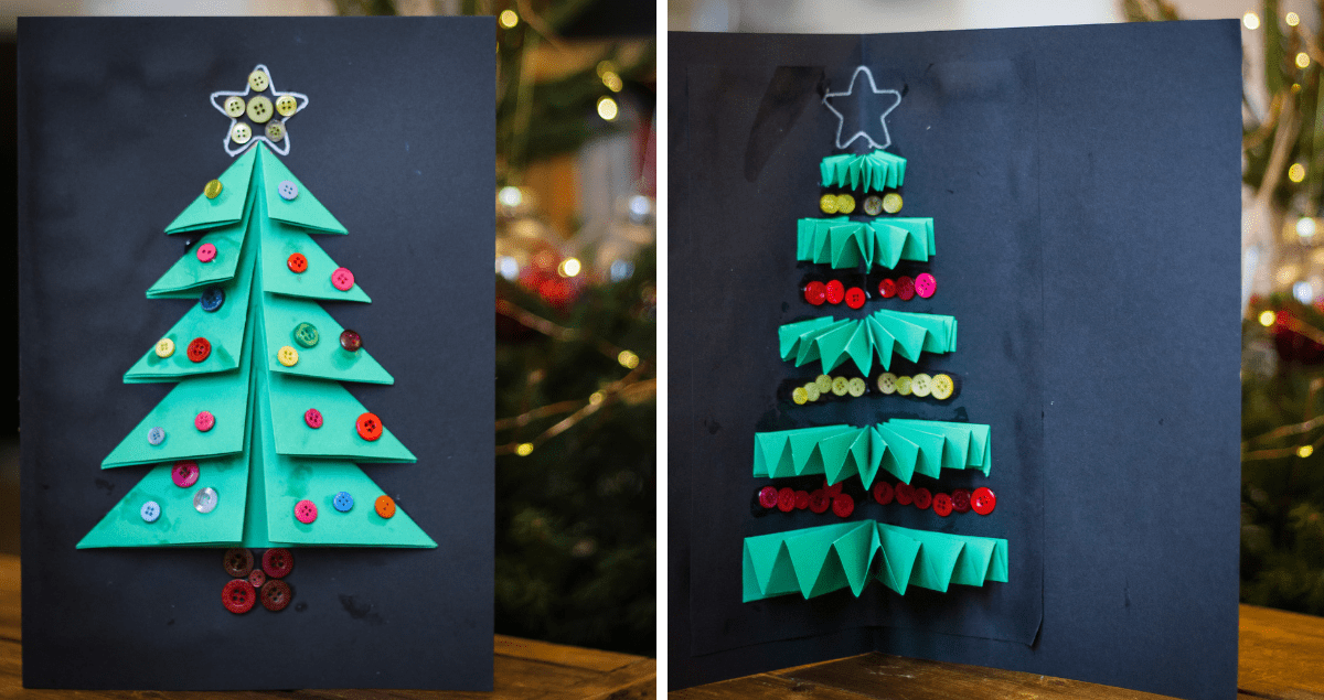 Finished Christmas Tree Card Craft
