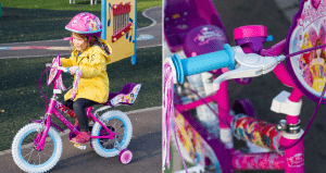 Littlest and her first bike
