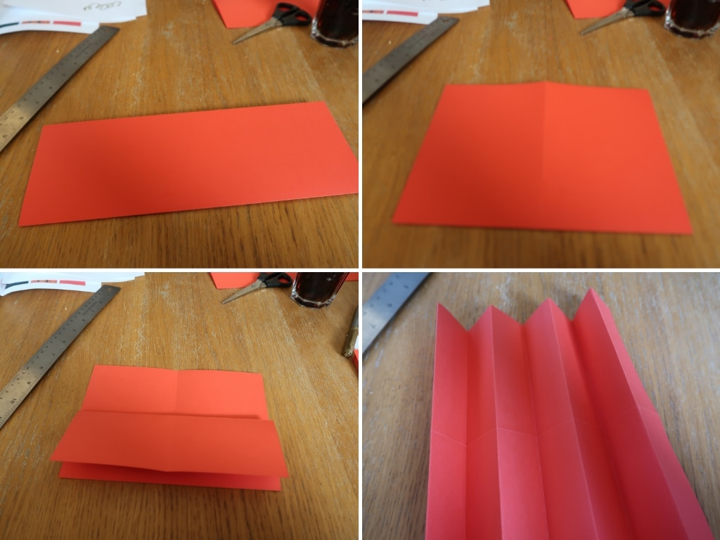 How to fold the card for Chinese Fan Craft