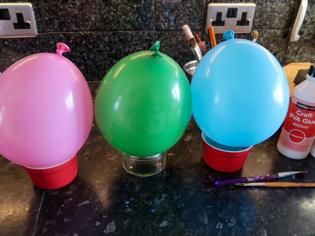 Balloons ready for paper mache