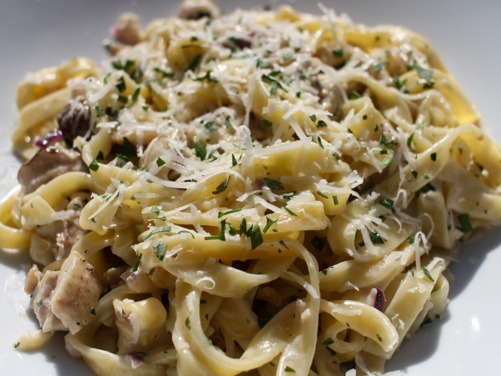 Wild Mushroom and Chicken Tagliatelle