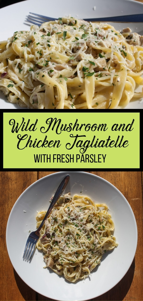 Wild Mushroom and Chicken Tagliatelle PIn