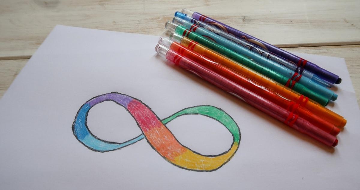 Infinity Symbol for Autism Awareness
