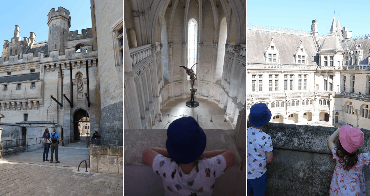 A collage of pictures of Chateau Pierrefonds