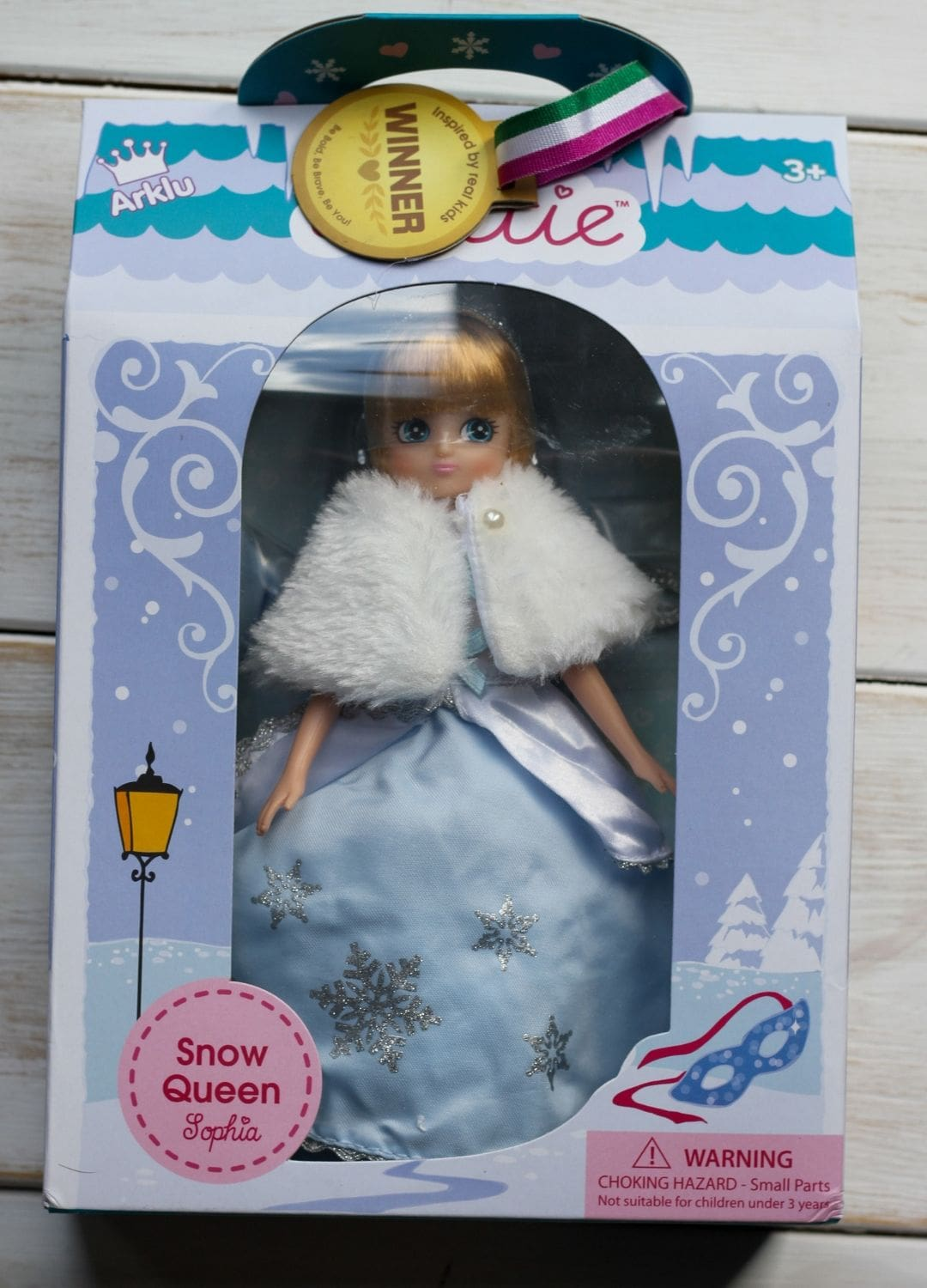 Sophia Snow Queen from Lottie Dolls in box