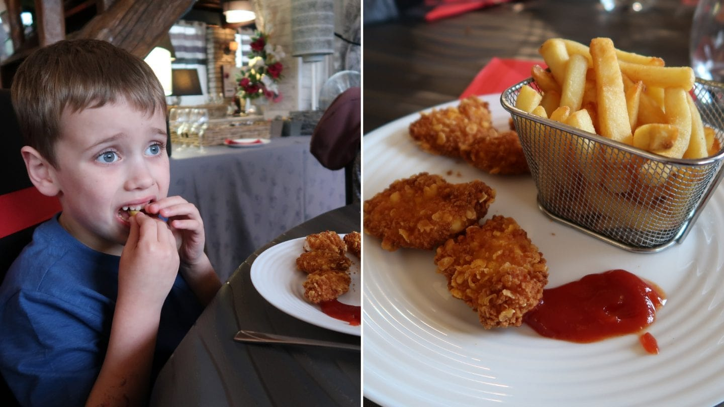 Biggest eating chicken nuggets at La Croix du Vieux Pont