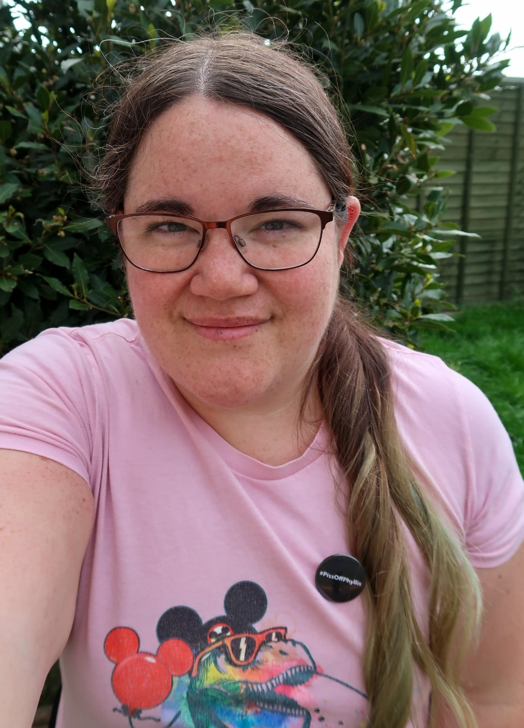Me with pink t-shirt