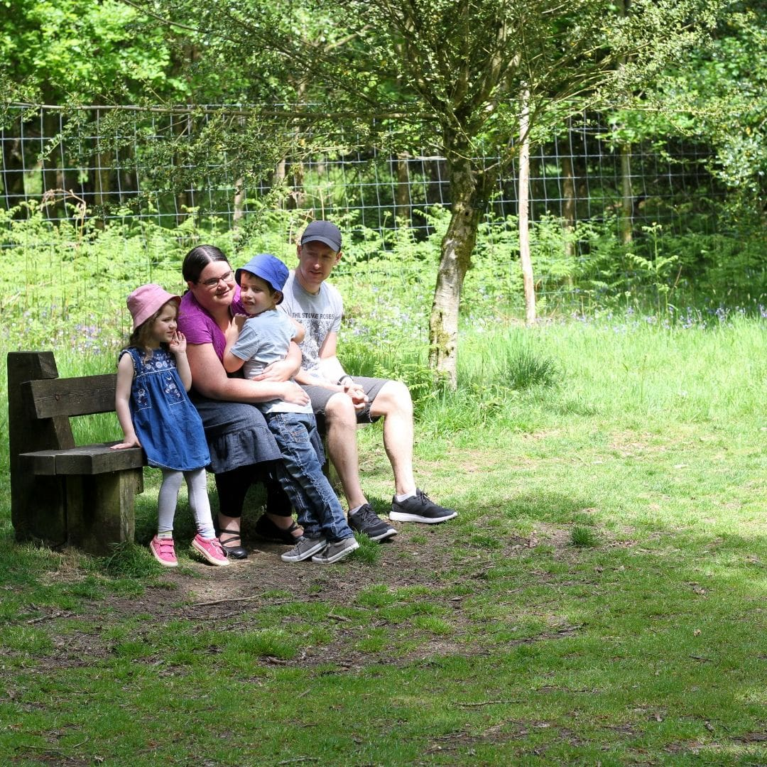 My family in a forest for adult autism diagnosis