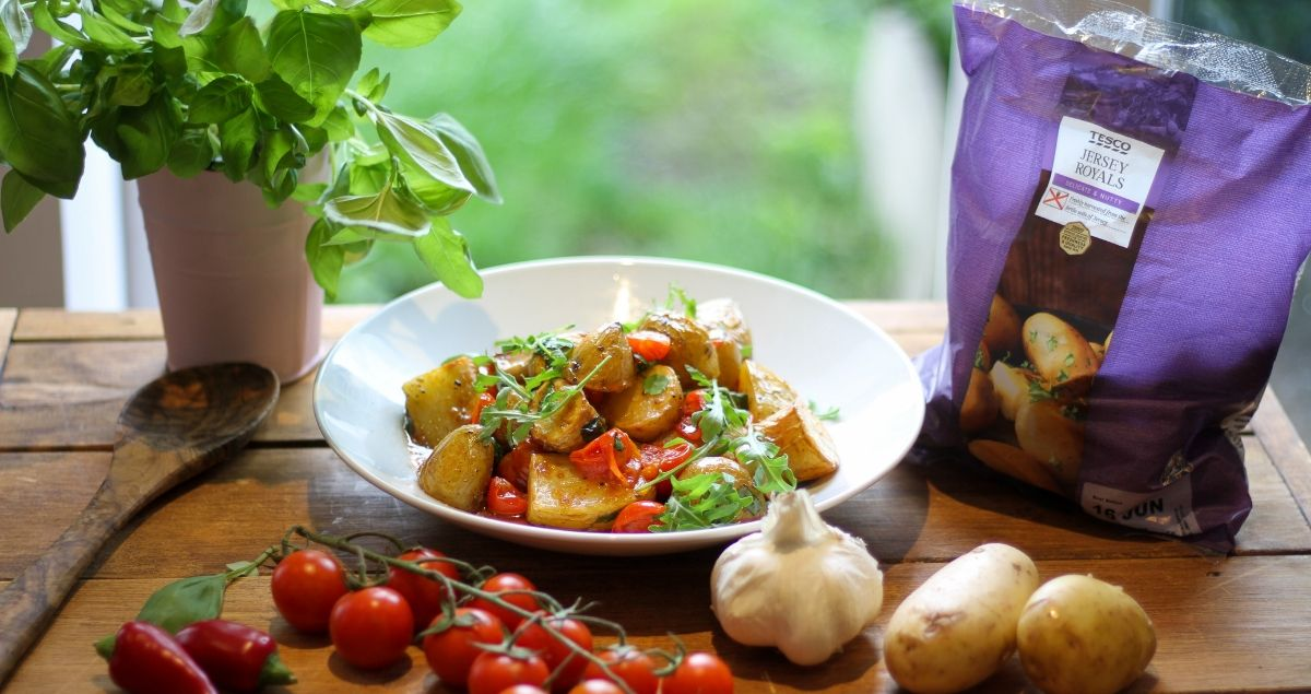 Potato and Tomato with Jersey Royals