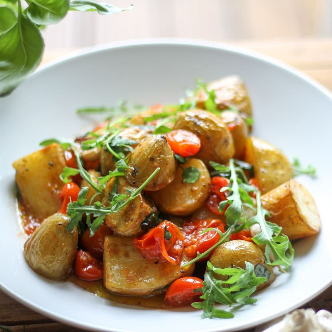 Tesco Jersey royals Potato and Tomato aglione