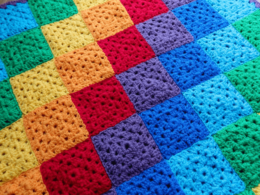 rainbow blanket - crochet projects for beginners