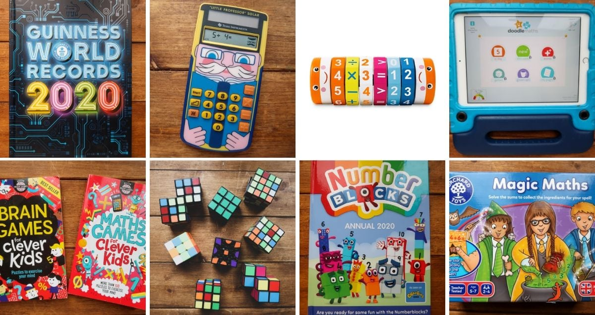 Collage of Maths Toys