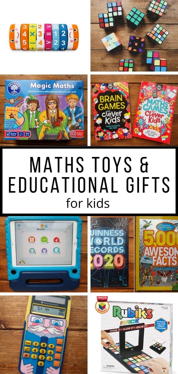 Maths toys and educational gifts pin