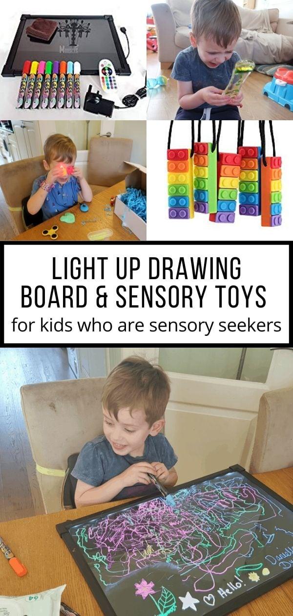 Sensory Light Up Drawing Board and Sensory Toys pin