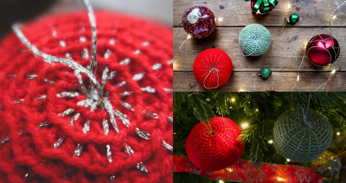 Crochet Christmas Decorations Feature Image of Crochet Baubles