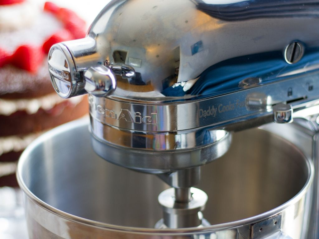Close up of Kitchen Aid with personalisation
