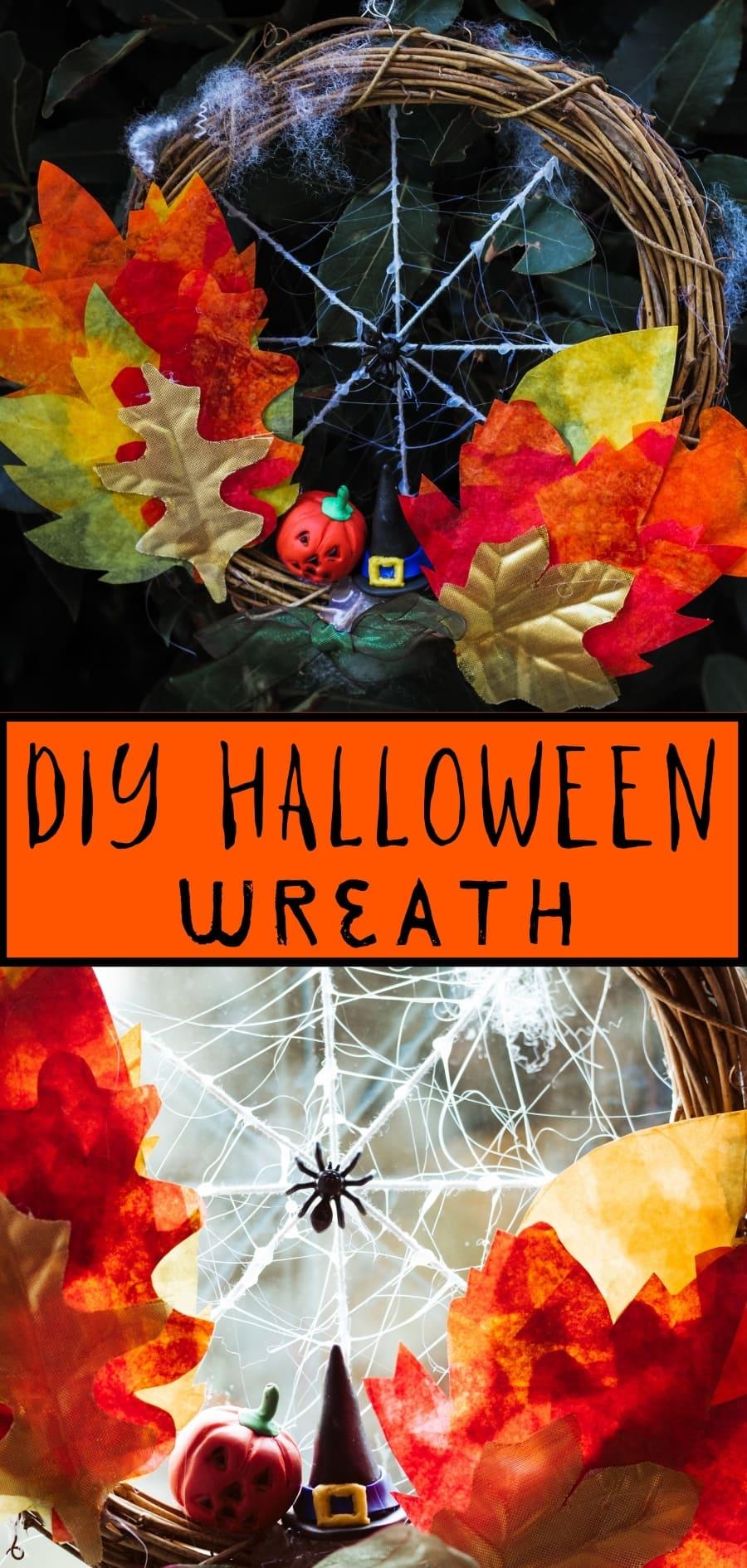 DIY Halloween Wreath Pin