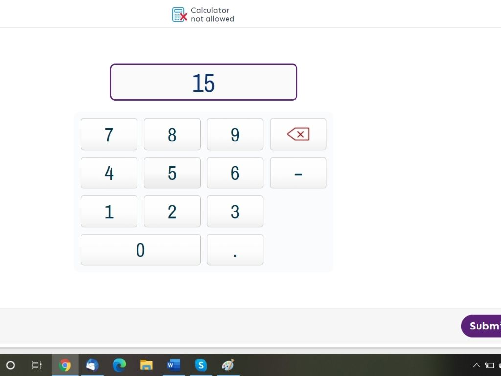 Numerise answer page