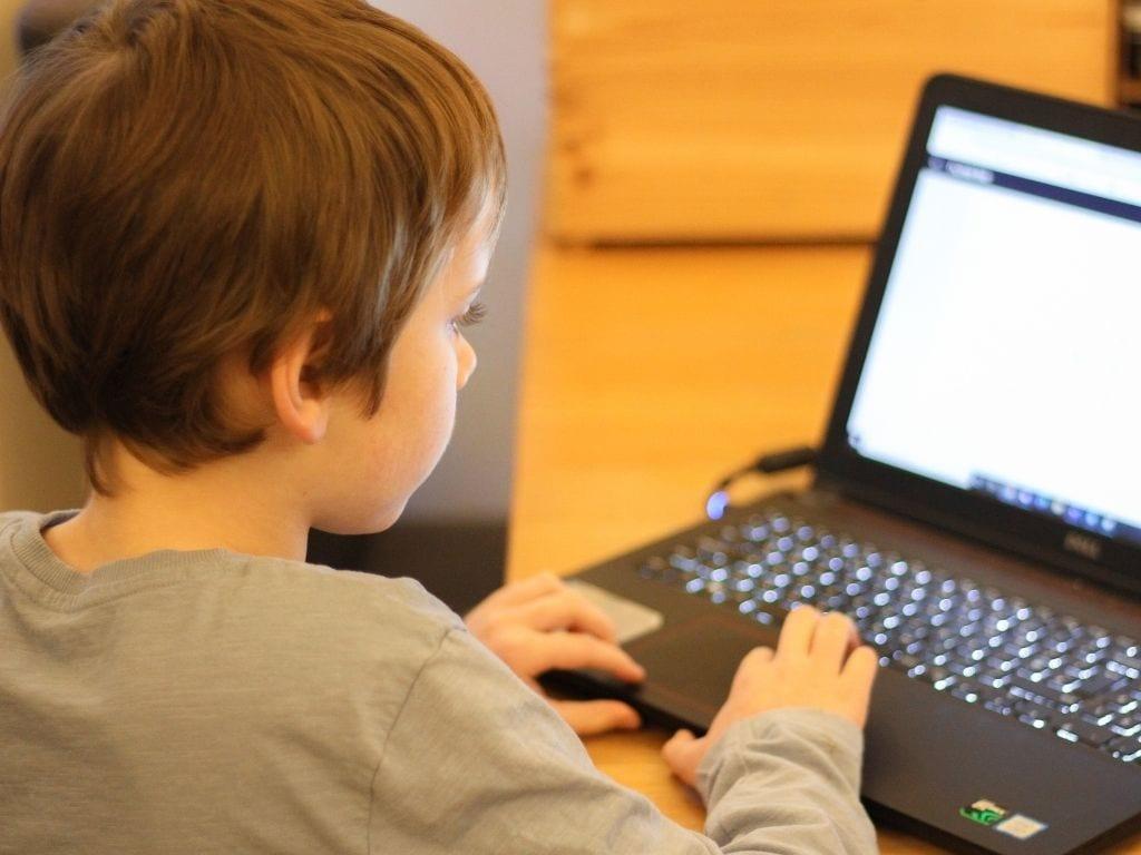 Boy using Numerise app