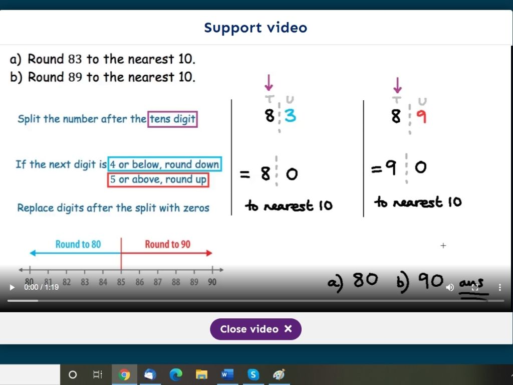 Numerise Support video